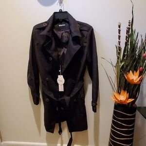wando Jackets & Coats - Black Raincoat NWT